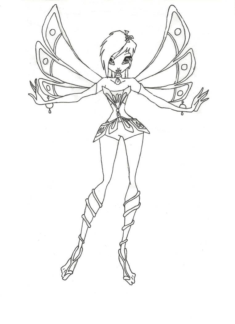 Winx Club Enchantix Tecna coloring page by winxmagic237 on