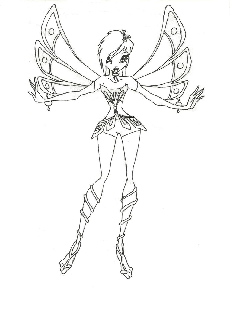 Winx Club Enchantix Tecna Coloring Page By Winxmagic237 On Deviantart