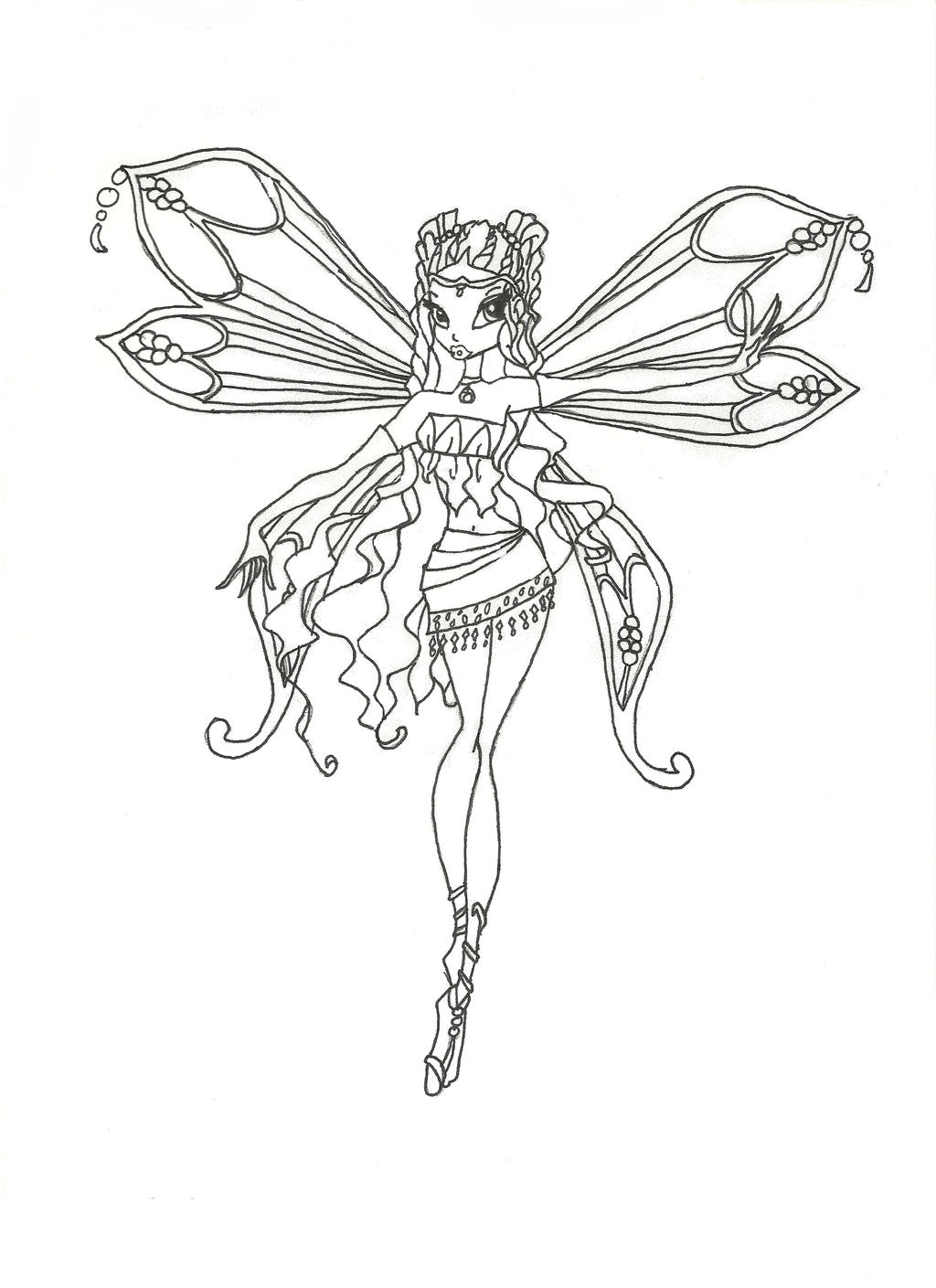 winx club musa coloring pages - winx club musa enchantix coloring pages murderthestout