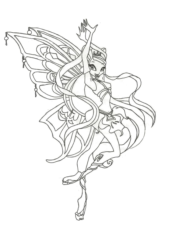 Winx Club Enchantix Stella coloring page by winxmagic237