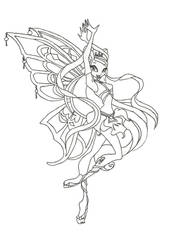 Winx Club Enchantix Stella coloring page