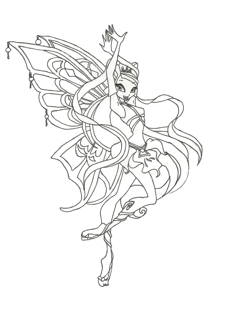 Winx club magic para colorear for Winx stella coloring pages