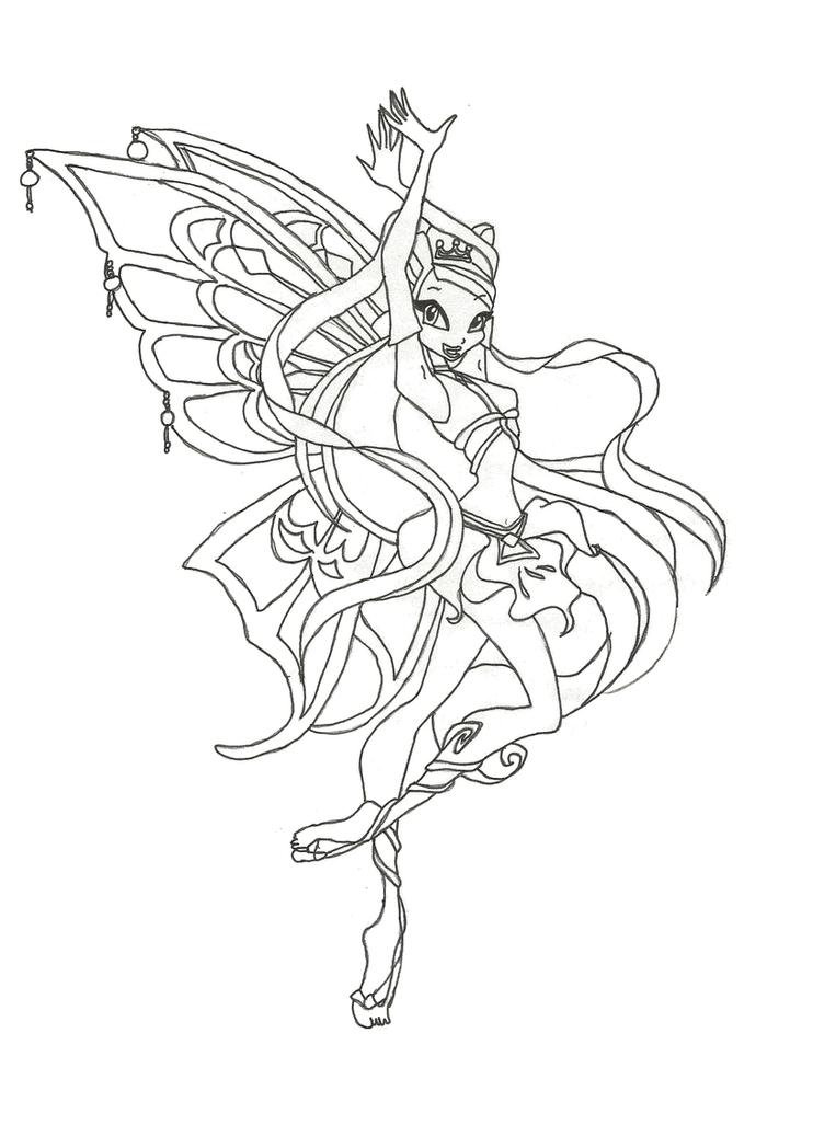 Winx club magic para colorear for Winx club stella coloring pages