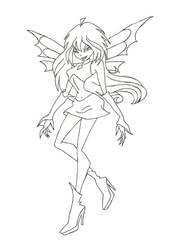 Winx Dark Bloom coloring page