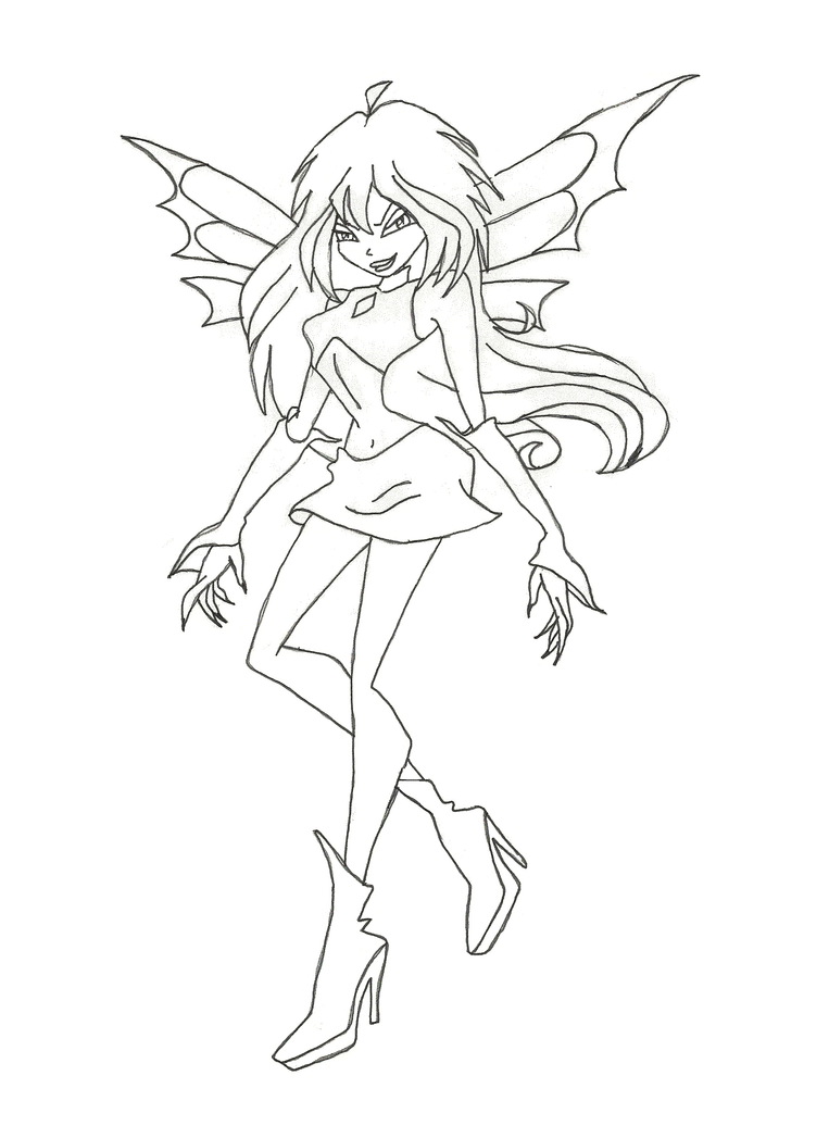 Winx Dark Bloom coloring page by winxmagic237