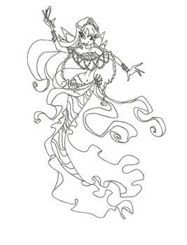 Winx Club Mermaid Stella coloring page