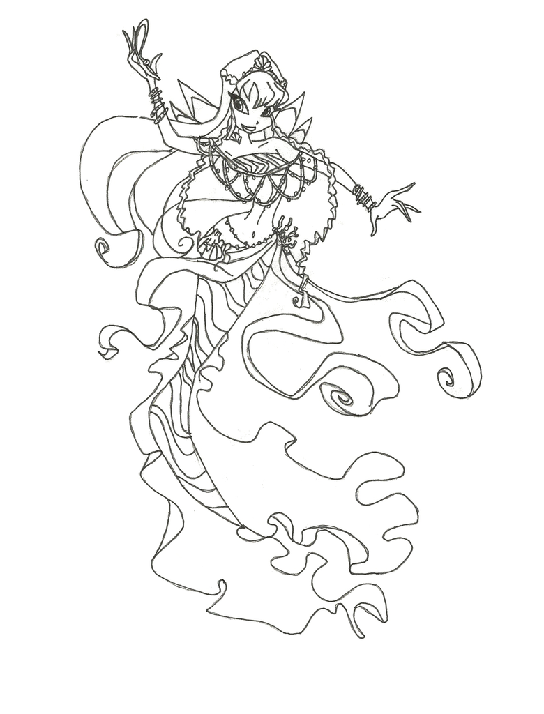 Winx Club Mermaid Stella Coloring Page By Winxmagic237 On