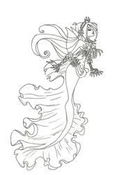 Winx Club Mermaid Flora coloring page