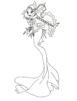 Winx Club Mermaid Layla coloring page