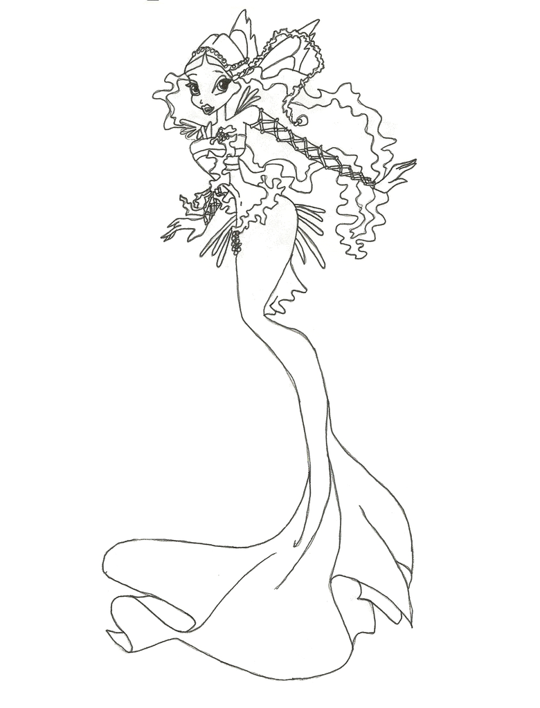 Winx Club Mermaid Layla Coloring Page By Winxmagic237 On