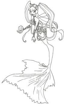 Winx Club Mermaid Musa coloring page