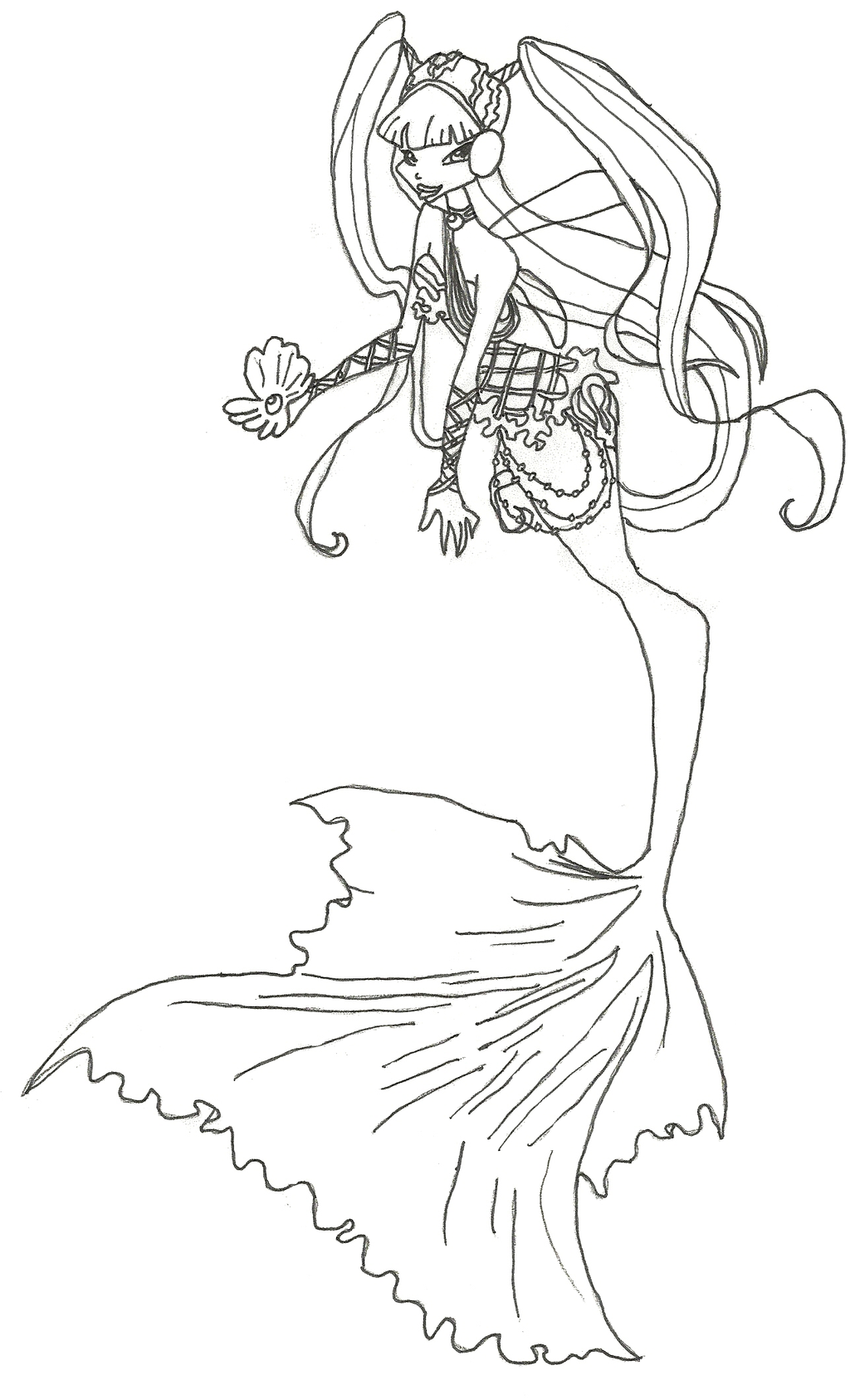 Winx Club Mermaid Musa Coloring Page By Winxmagic237 On Winx Club Musa Coloring Pages