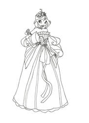 Winx Club Ball Gown Bloom Coloring Page