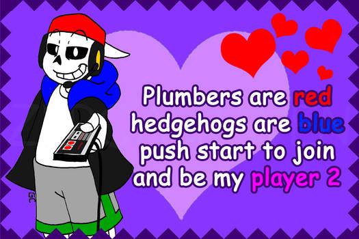 Gamer Sans Valentine Card