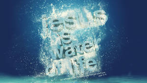 Jesus Water - wallpaper