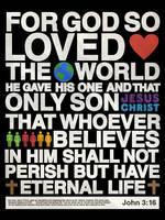 John 3:16 - Poster by mostpato