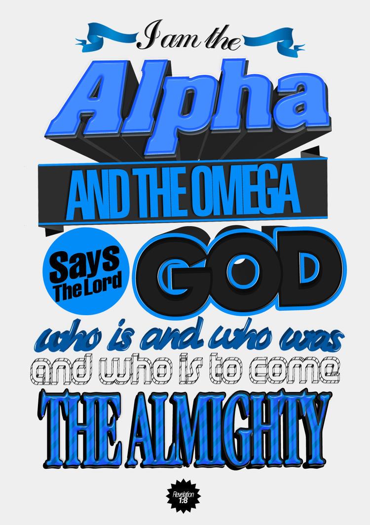 Revelation 1:8 - Poster by mostpato