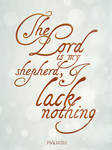 Psalm 23:1 - Poster