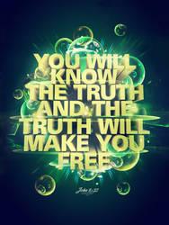 John 8:32 - Poster by mostpato