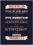 Proverbs 3:5-6 - Poster
