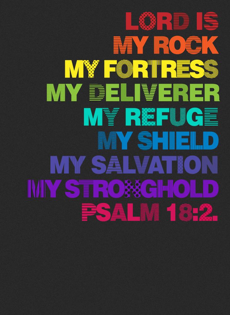 Psalm18:2 - Poster by mostpato