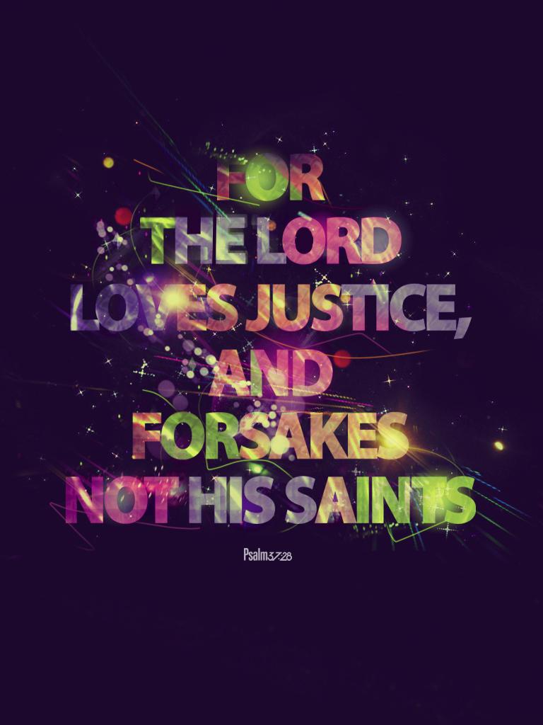 Psalm 37:28 - Poster by mostpato