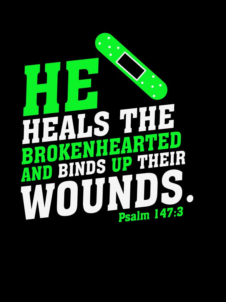 Psalm147:3 - Poster by mostpato