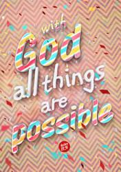 Mathew 19:26 - Poster by mostpato