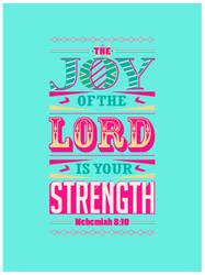 Nehemiah 8:10 - Poster