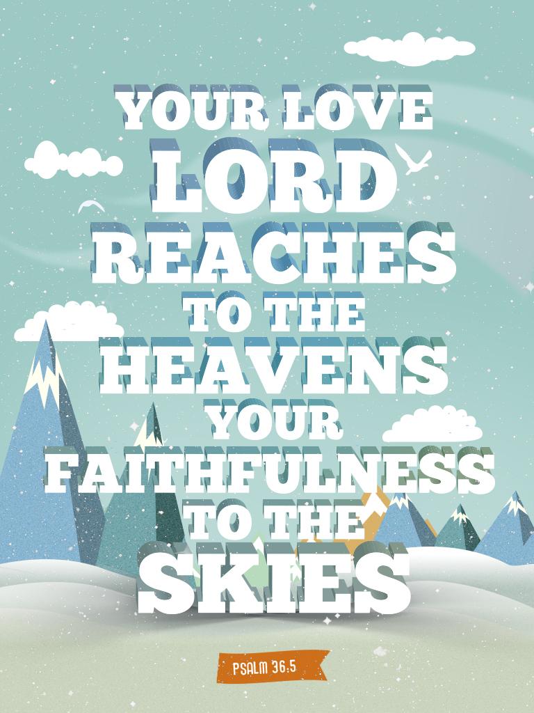 Psalm 36:5 - Poster by mostpato