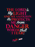 Psalm 27:1 - Poster
