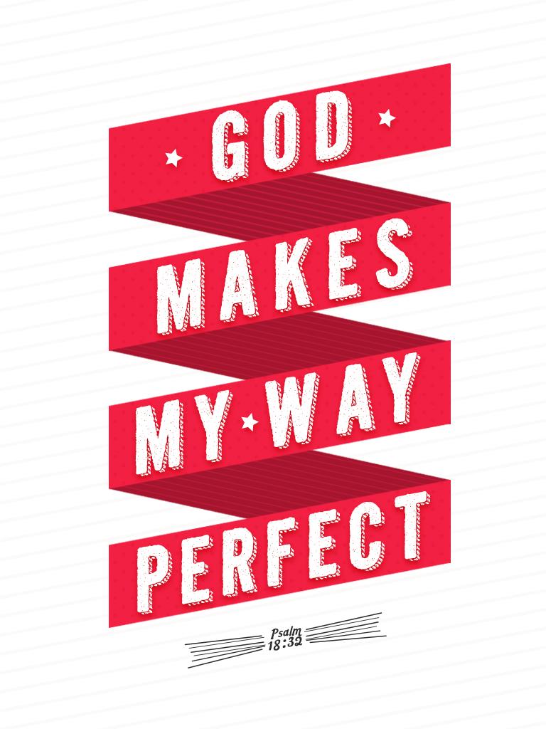 Psalm 18:32 - Poster by mostpato
