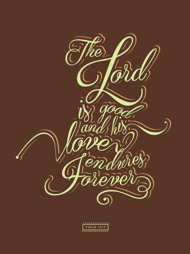 Psalm 100:5 - Poster by mostpato