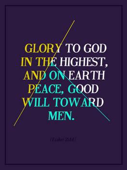 Luke 2:14 - Poster