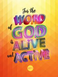 Hebrews 4:12 - Poster