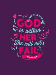 Psalm 46:5 - Christian Poster by mostpato