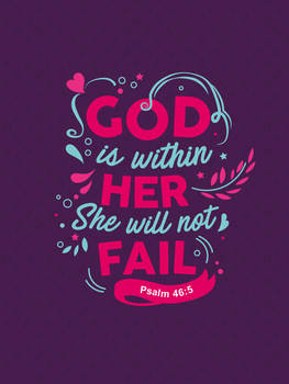 Psalm 46:5 - Christian Poster
