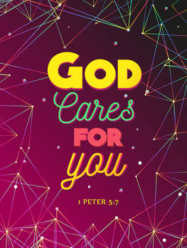 1 Peter 5:7 - Christian Poster