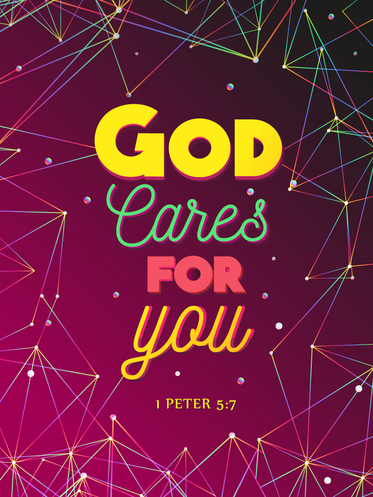 1 Peter 5:7 - Christian Poster by mostpato on DeviantArt