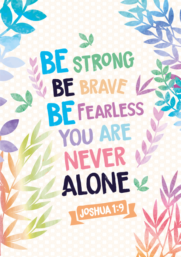 Joshua 1:9 - Christian Poster by mostpato