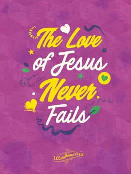 1 Corinthians 13 4:8 - Poster