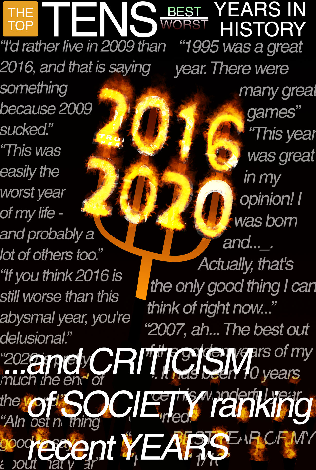 Criticism of How Society Ranks the Best/Worst Year