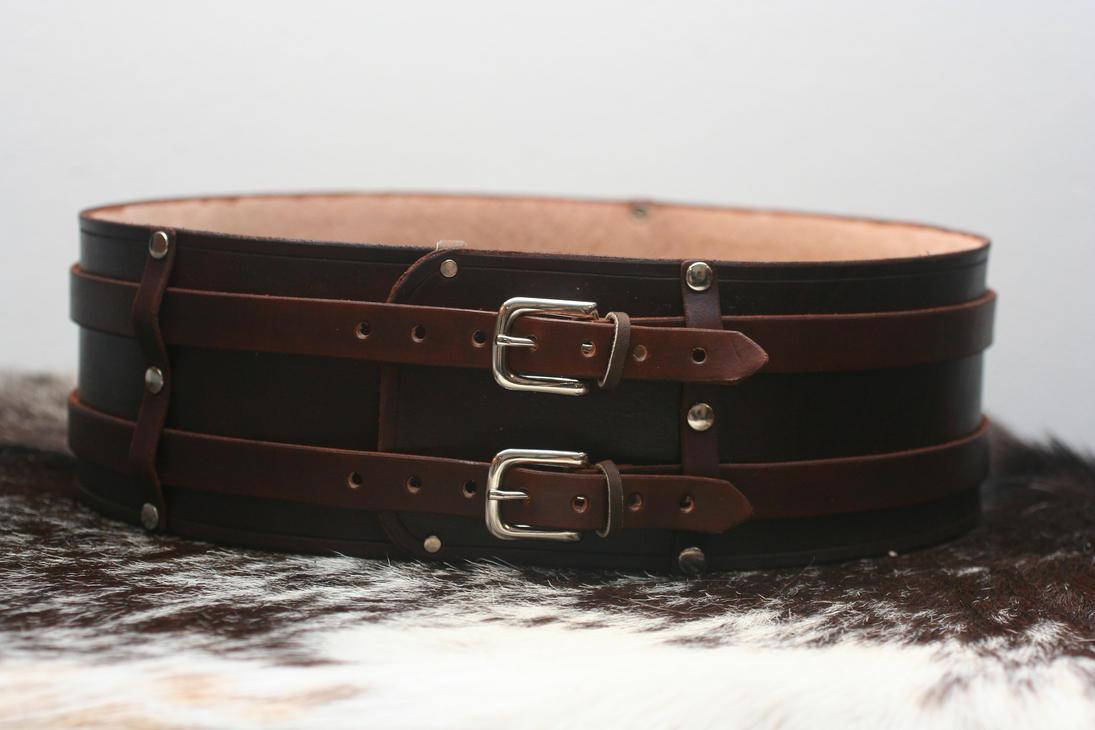 warrior leather kidney belt by versalla on deviantart