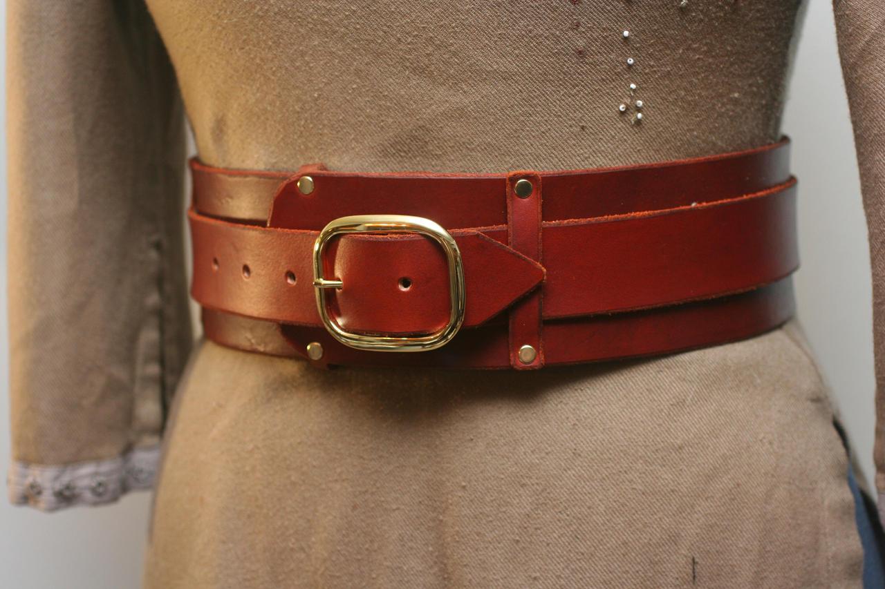 brown warrior leather kidney belt by versalla on deviantart