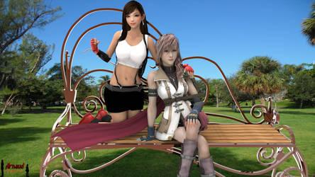 Tifa and Lightning (Version 2.0)