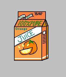 pixel art juice