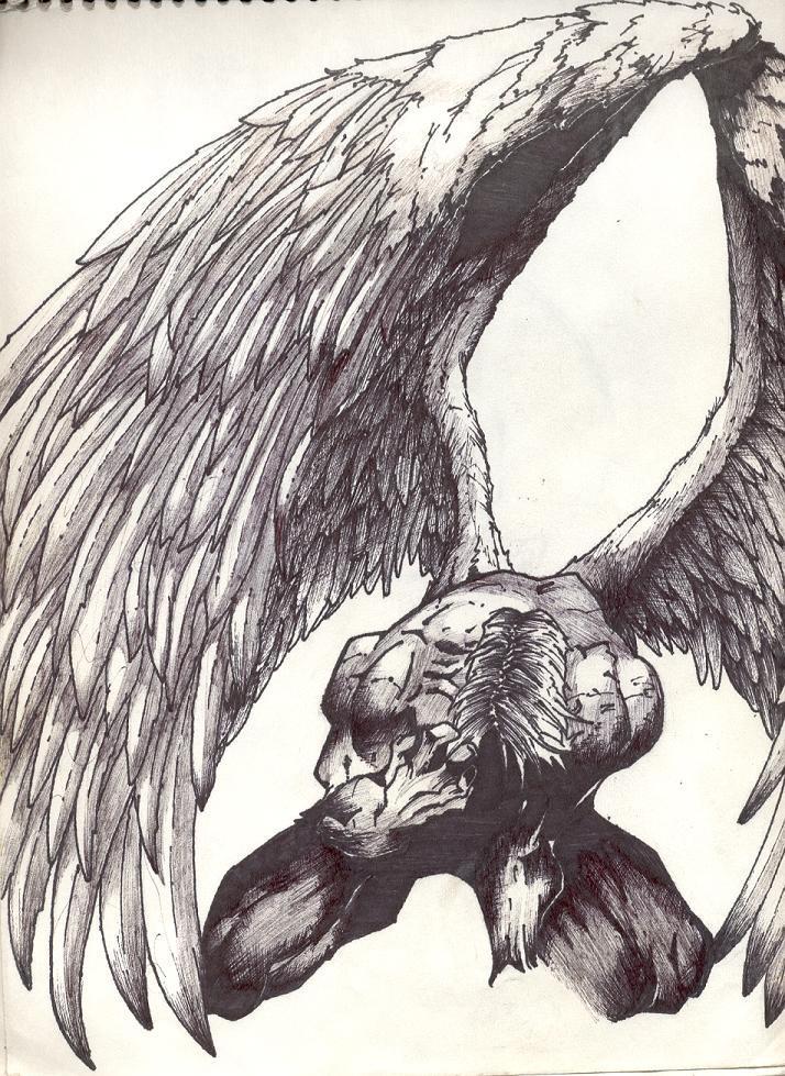 Fallen Angel by evilsi...