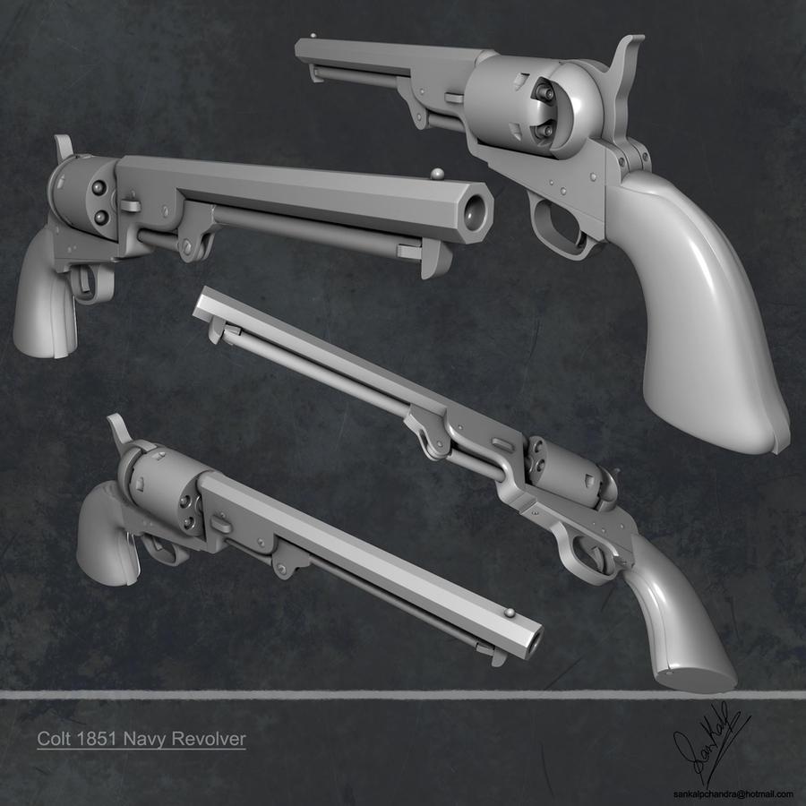 Colt Revolver 1851 Colt 1851 Navy Revolver Highby