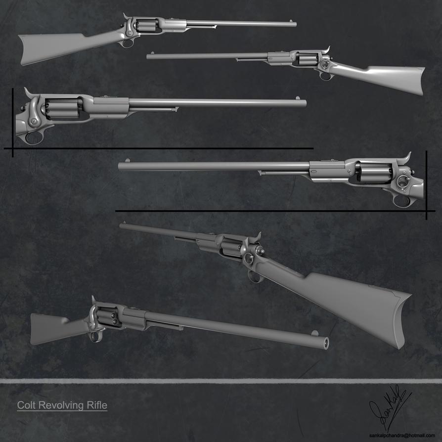 Colt Revolver Rifle Colt Revolving Rifle Hires by