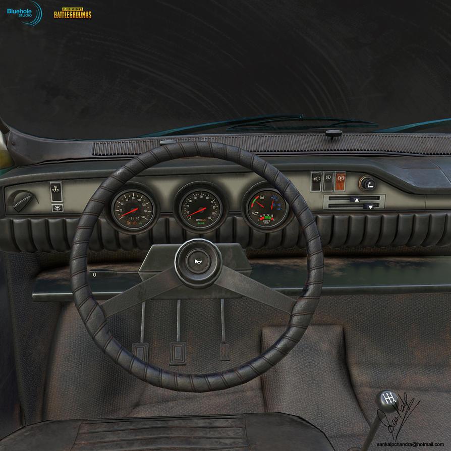 PUBG Dacia 1300 LP Interior 01 by sankalp23
